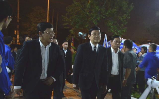 Chủ tịch nước Trương Tấn Sang viếng ông Nguyễn Bá Thanh - 1