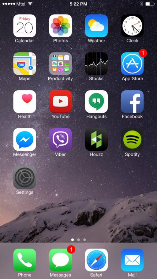 Từng bước cài đặt tài khoản Google trên iPhone 6 - 1