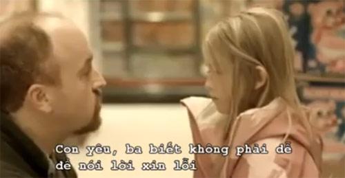 Rưng rưng xem clip cha dạy con gái nói xin lỗi - 1