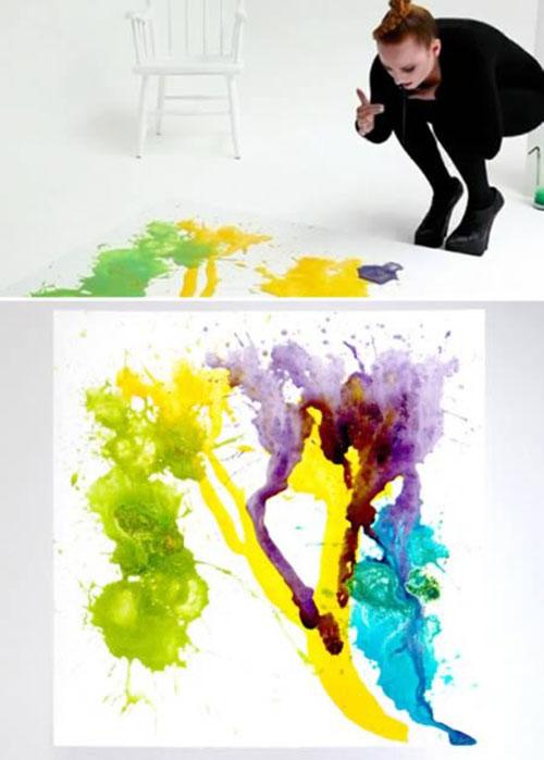 Ngã ngửa với những kỹ thuật vẽ tranh siêu kỳ quặc - 1