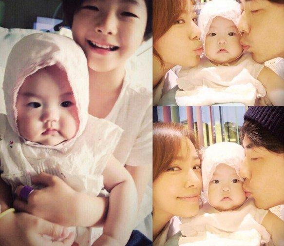 Vợ chồng Kwon Sang Woo khoe 2 nhóc tỳ xinh xắn - 1