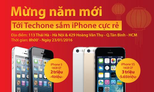 Xả kho iPhone 5 giá 2 triệu, iPhone 5s 3 triệu đồng - 1