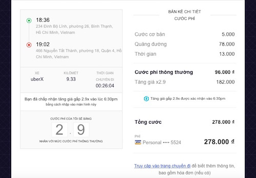 Cách Uber tính toán và tăng giá taxi vào giờ cao điểm - 1