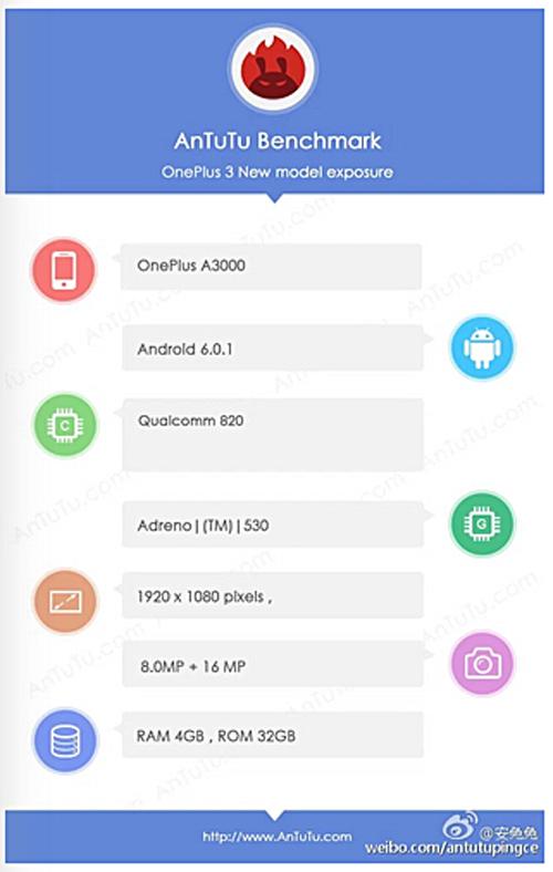 OnePlus 3 cấu hình mạnh, camera 16MP lộ diện - 1