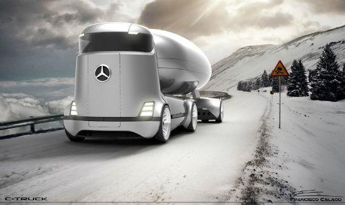Mercedes-Benz E-Truck thiết kế như vật ngoài hành tinh - 1