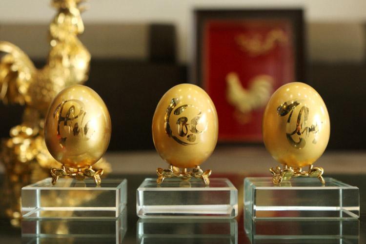 Chiêm ngưỡng bộ trứng vàng 30 lượng của đại gia Quảng Ninh - 1