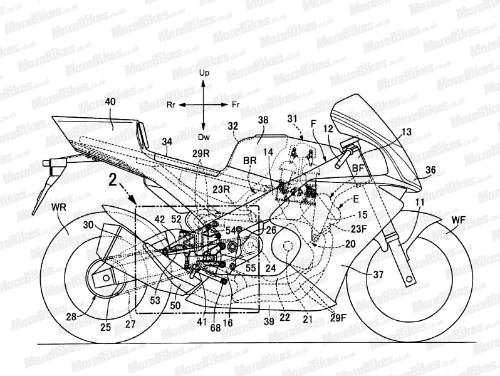 Lộ thiết kế siêu xe Honda V4 - 1