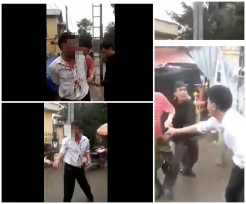 Người đàn ông bị đánh giữa chợ vì nghi bắt cóc trẻ em - 1