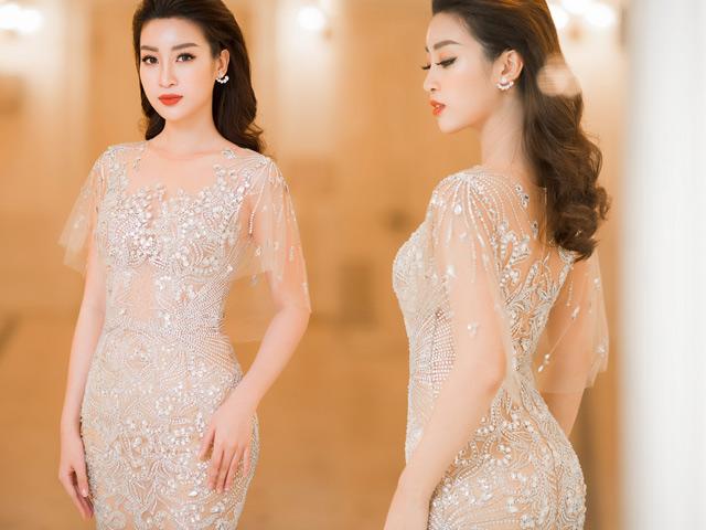 Chiếc váy táo bạo, mỏng manh nhất của Hoa hậu Đỗ Mỹ Linh