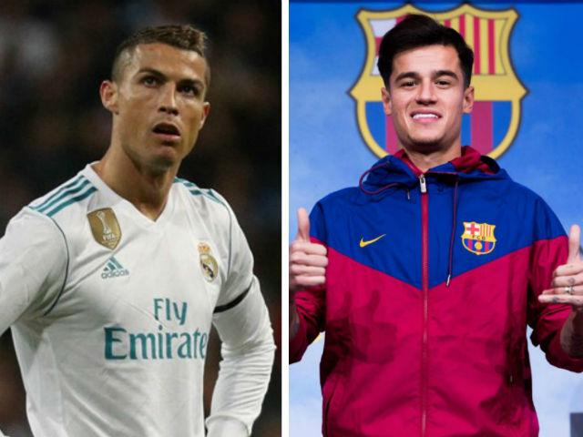 """Top sao """"bạc tỷ"""": Ronaldo hết thời, Coutinho 160 triệu euro quá đắt"""