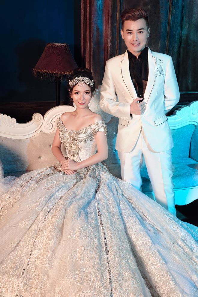 Gái hai con Đan Lê diện váy cưới như nữ hoàng - 1
