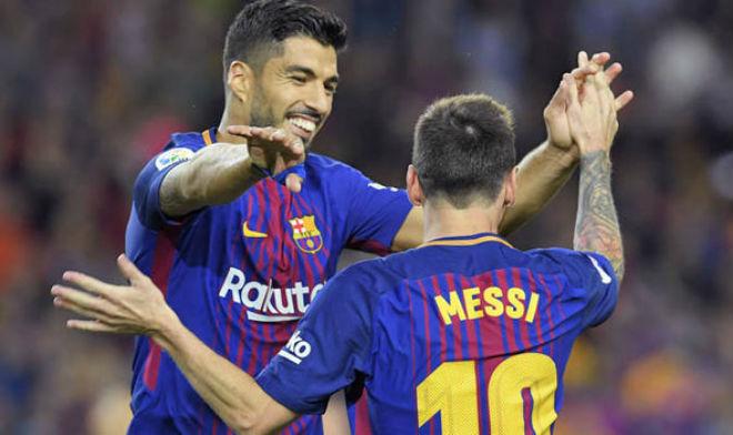 """Messi, Suarez hù dọa bom tấn: 31 phút ghi 4 bàn, Coutinho """"tái mặt"""" - 1"""