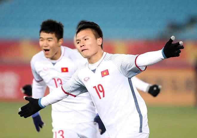 """Quang Hải """"siêu nhân"""" ghi 2 bàn, U23 Việt Nam làm triệu fan bùng nổ - 1"""