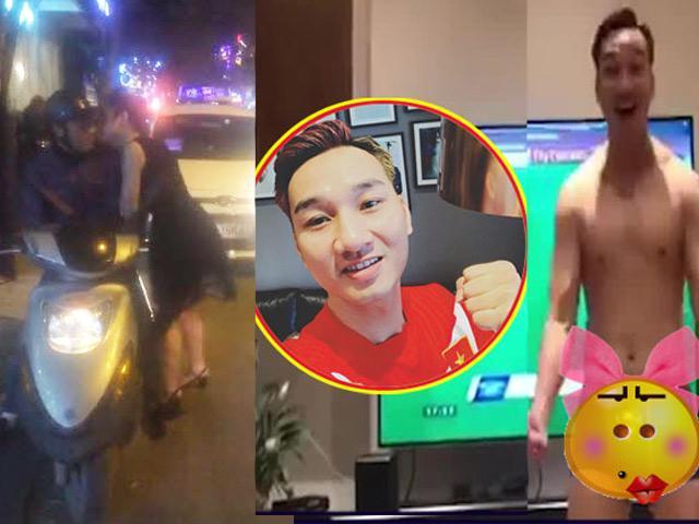 Sao Việt bán khỏa thân, hôn trai lạ thực hiện lời hứa vì Việt Nam thắng