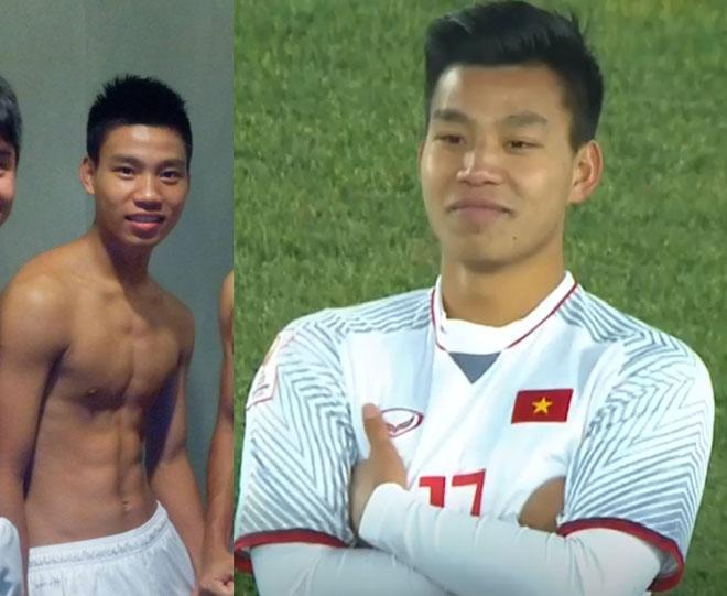"""Những lần """"nam thần"""" U23 Việt Nam cởi áo khoe cơ bắp khiến chị em điêu đứng - 1"""