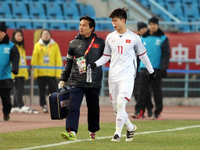 Cầu thủ U23 Việt Nam đổ máu, kiệt sức giật vé chung kết lịch sử