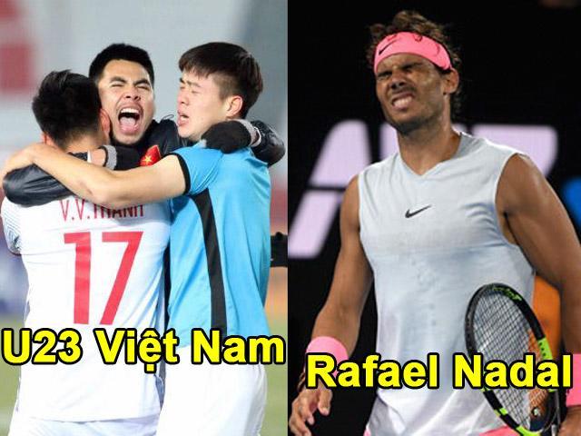 Nadal, Djokovic bị loại Australian Open: Cổ tích như U23 VN
