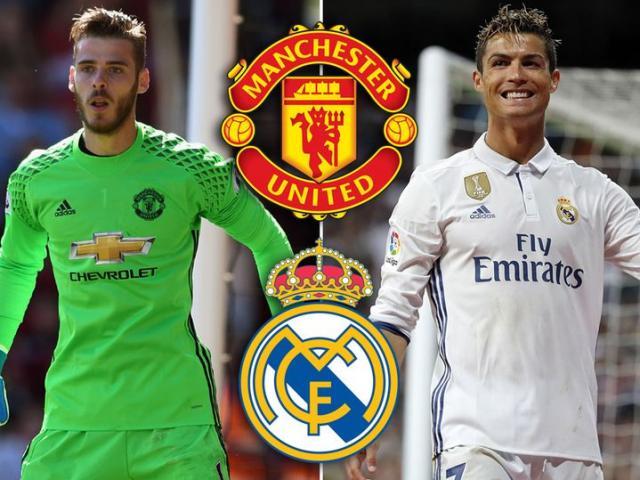 Chuyển nhượng MU: Real tính đổi Ronaldo lấy De Gea