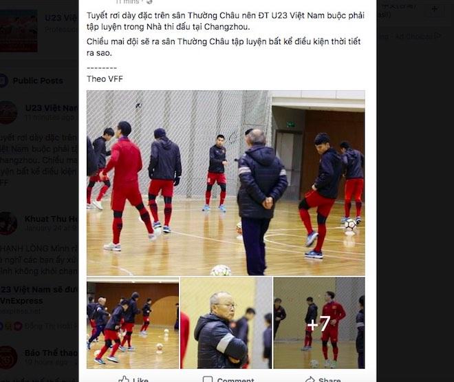 Dân mạng đua nhau check-in nơi U23 Việt Nam gặp U23 Uzbekistan - 1