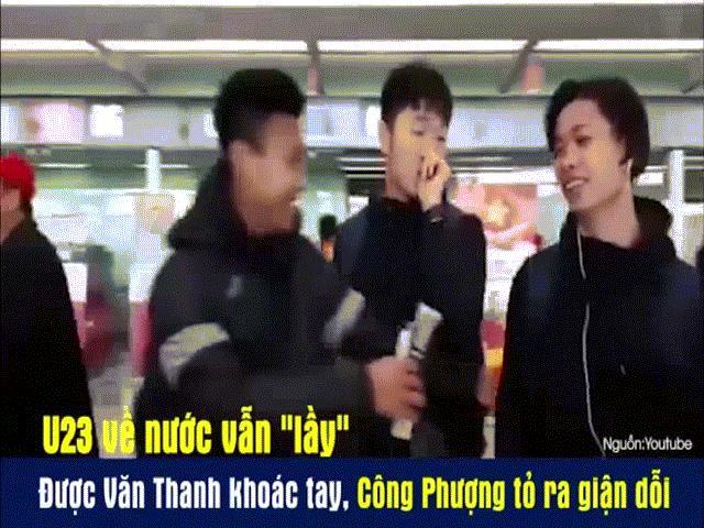 Clip siêu dễ thương của Công Phượng và HLV Park Hang-seo