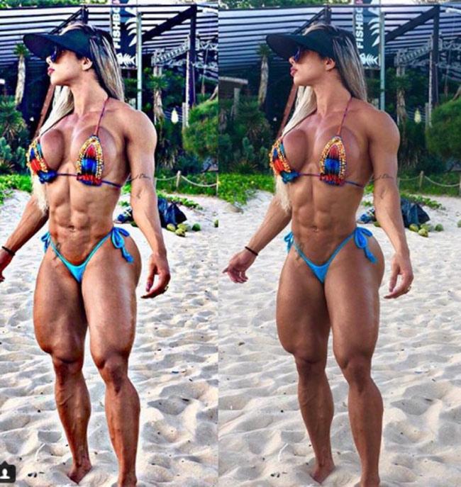 Do đó, những thân hình nổi múi như sóng biển dưới đây hầu như đều phải có sự trợ giúp của các loại thuốc tiêm bổ sung hormonenam,chế độ ăn cực kỳ nghiêm ngặt và lịch tậpthể dục, thể hình dày đặc.