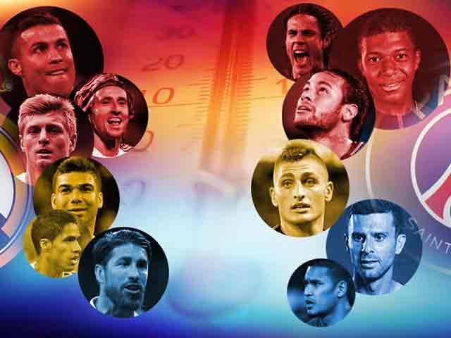 """Siêu sao đại chiến Real - PSG: Fan Real tin vào """"ngày tàn của Ronaldo"""""""