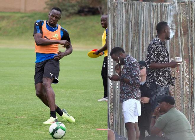 U.Bolt ngày đá bóng, tối đàn đúm rượu, người đẹp: Sao đá cho MU? - 1