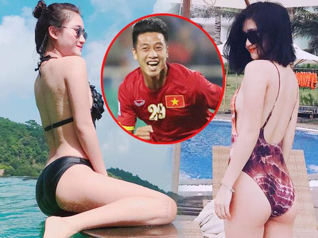 Bất ngờ về bạn gái đẹp như minh tinh của tiền vệ Huy Hùng