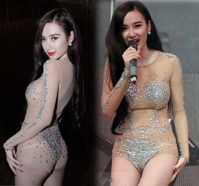 Đồ diễn màu nude, bó sát cơ thể dễ gây hiểu lầm của sao Việt - 1
