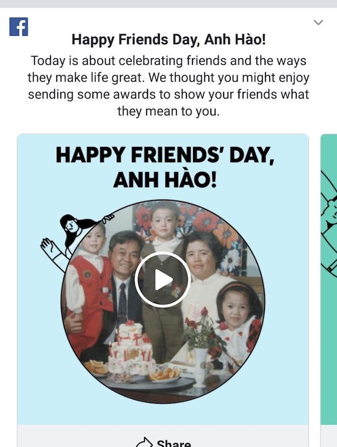 Video tình bạn trên Facebook phiên bản 2018 đã có, xem hướng dẫn ở đây - 1