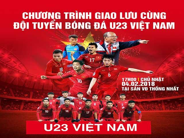 """Trực tiếp U23 Việt Nam """"mở hội"""" giao lưu tại TP HCM: Xuất hiện phe vé"""