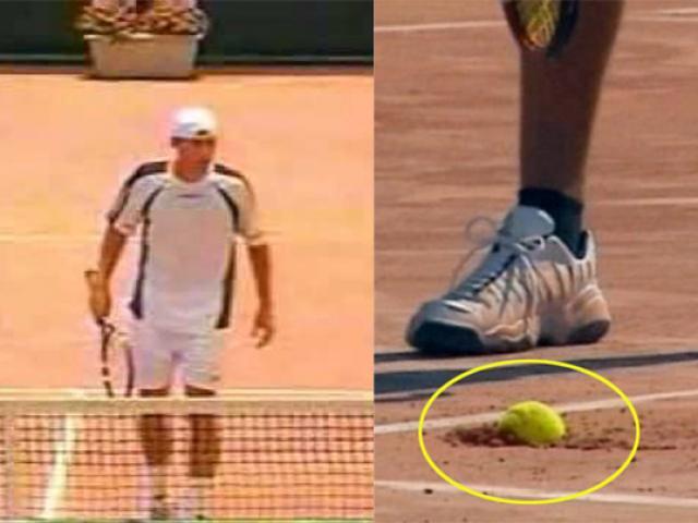 """Kinh ngạc 10 triệu lượt xem tennis: Cú giao bóng """"sấm sét"""" cắm thẳng xuống đất"""