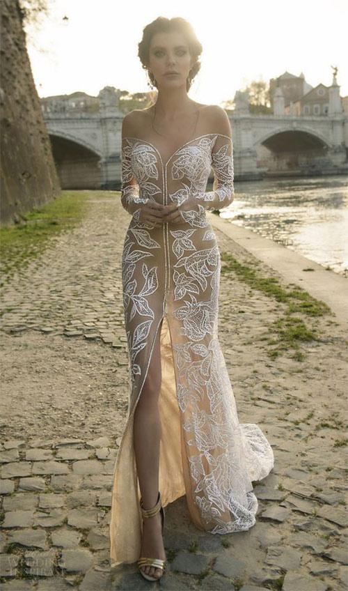 Ngã ngửa vì những cô dâu mặc váy cưới như ở trần - 12