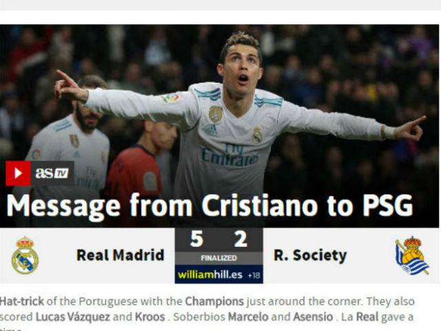 Ronaldo hat-trick đỉnh cao: Báo châu Âu sửng sốt, PSG-Neymar run rẩy