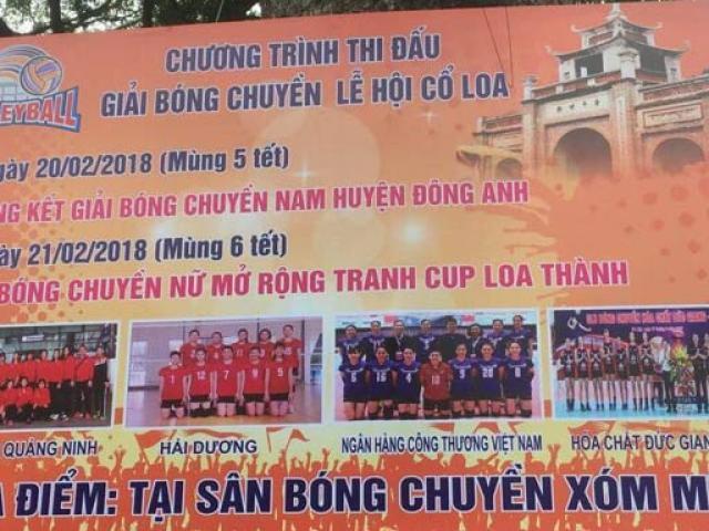 """Bóng chuyền nữ hội làng: """"Chân dài"""" Việt tưng bừng khai xuân 2018"""