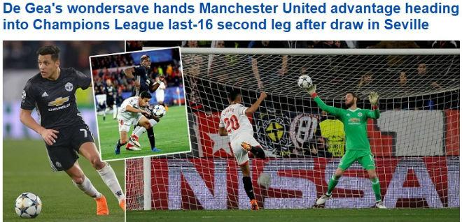 De Gea hay nhất trận: Báo chí thế giới bái phục 8 lần cứu thua - 1