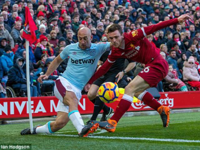 Liverpool - West Ham: Tứ tấu thăng hoa, bùng nổ 5 bàn thắng