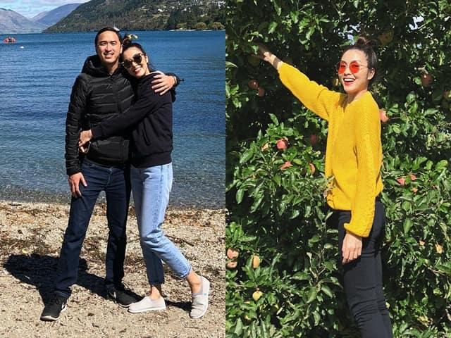 Vợ chồng Hà Tăng khoe ảnh tình cảm tại New Zealand