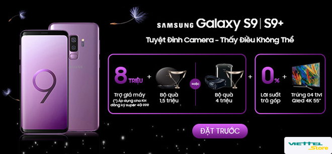 Đặt trước Samsung Galaxy S9/S9+: Trợ giá 8 triệu, rinh quà tặng 4 triệu đồng - 1