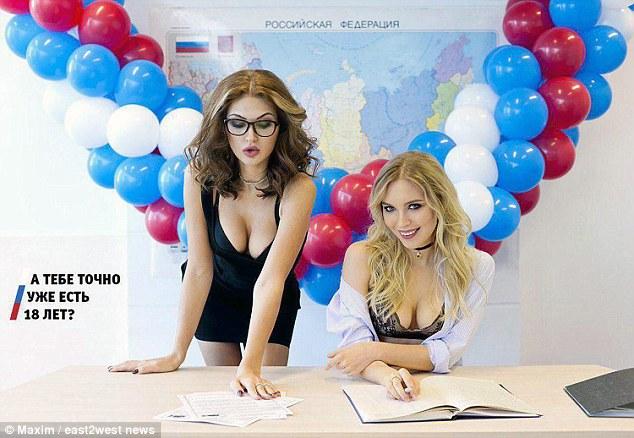 Nga: Dùng người mẫu gợi cảm khuyến khích người trẻ bầu cử - 1
