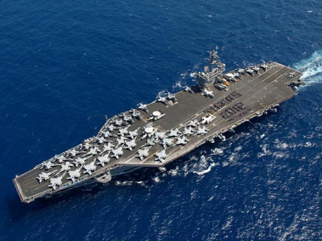 Hình ảnh trên siêu tàu sân bay hạt nhân Mỹ sắp đến Việt Nam
