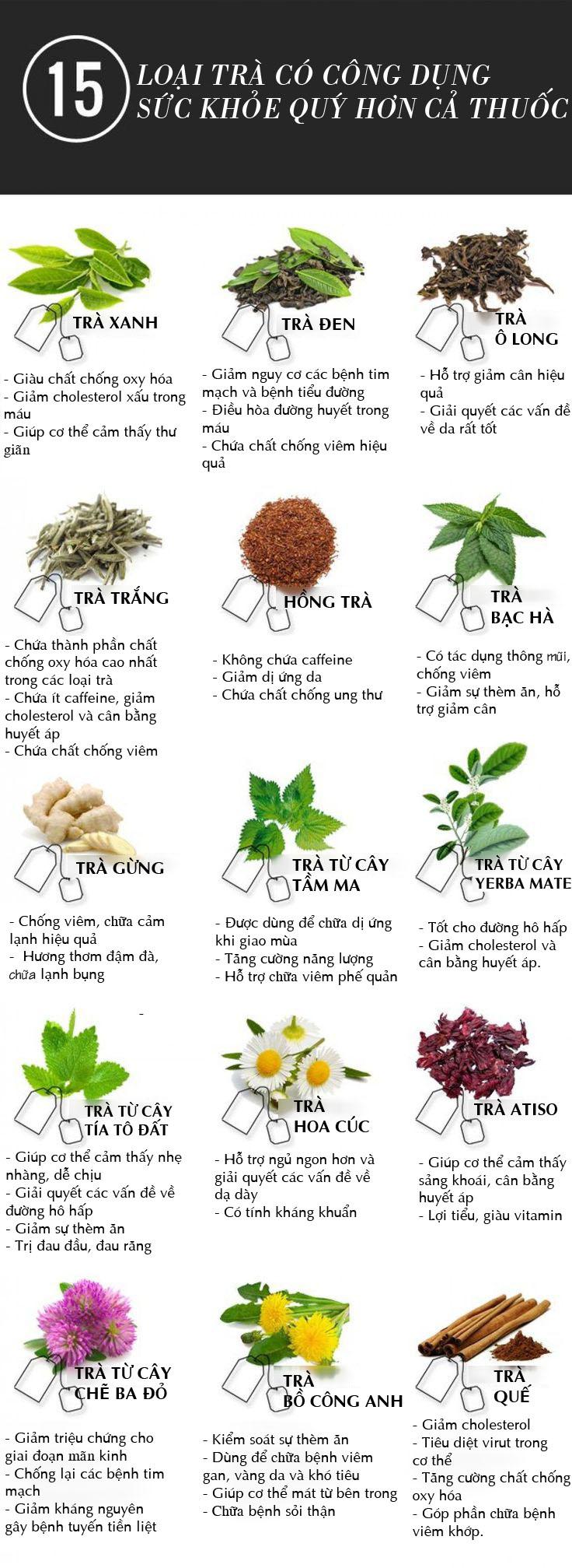 15 loại trà cho tác dụng sức khỏe hiệu quả hơn cả thuốc - 1