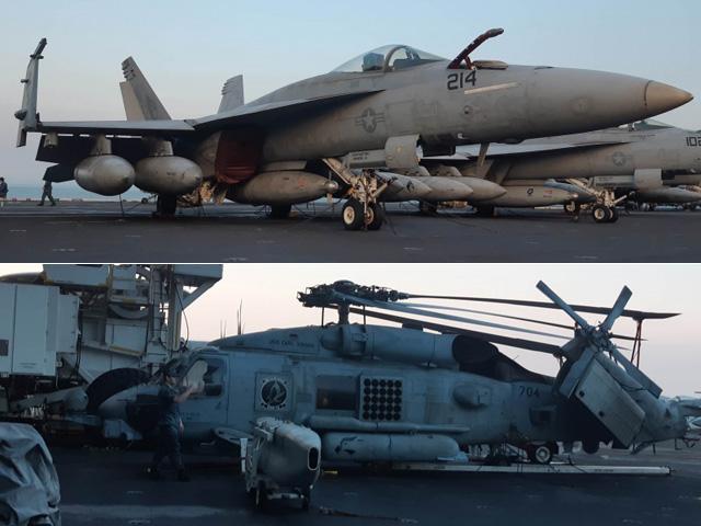 """Ngắm """"đàn chim sắt"""" trên siêu hàng không mẫu hạm USS Carl Vinson"""