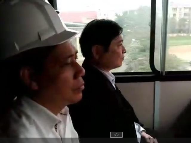 Mục kích chạy thử tàu trên đường sắt Cát Linh- Hà Đông