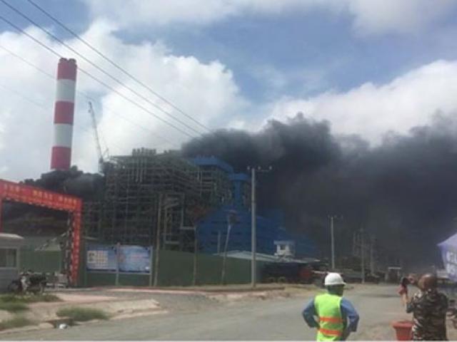 Cháy dữ dội nhà máy nhiệt điện Duyên Hải ở Trà Vinh