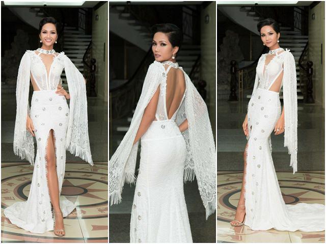 Hoa hậu H'Hen Niê gây tranh cãi vì bộ váy xẻ tứ bề