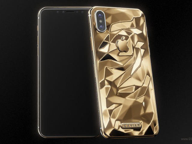 Lóa mắt trước iPhone X dát vàng giá gần 100 triệu đồng