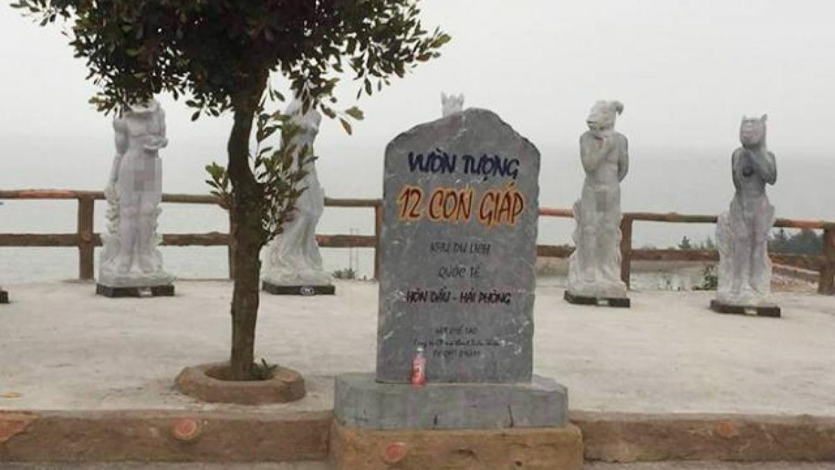 Vườn tượng 12 con giáp khỏa thân khiến du khách đỏ mặt ở Hải Phòng - Tin tức trong ngày