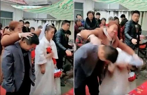 Bị làm nhục ngay trong đám cưới, cô dâu khóc lóc đòi về nhà - 1