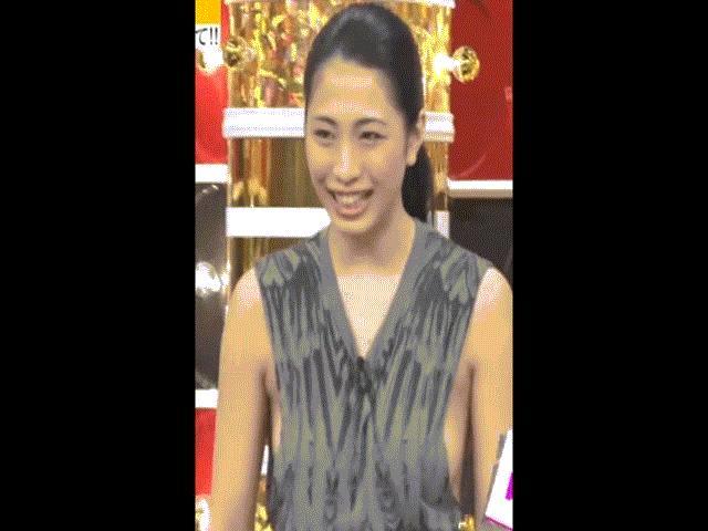 """""""Hoa hậu cuộc thi vòng 1 đẹp Nhật Bản"""" vô tư không nội y trên truyền hình"""